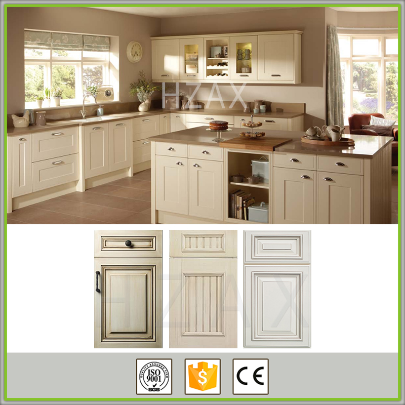 New model 2016 display white wood kitche cabinets for sale