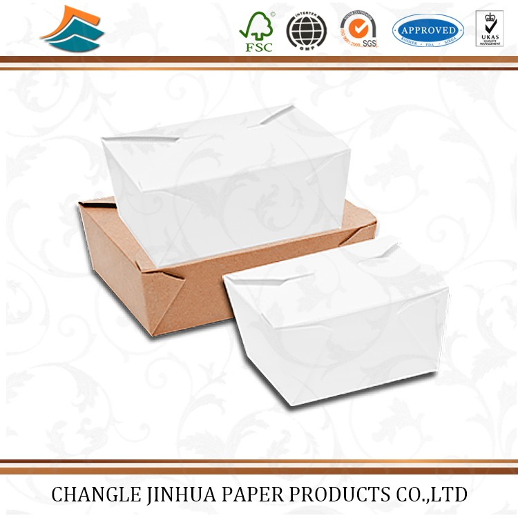 Customized folding paper take away food package box