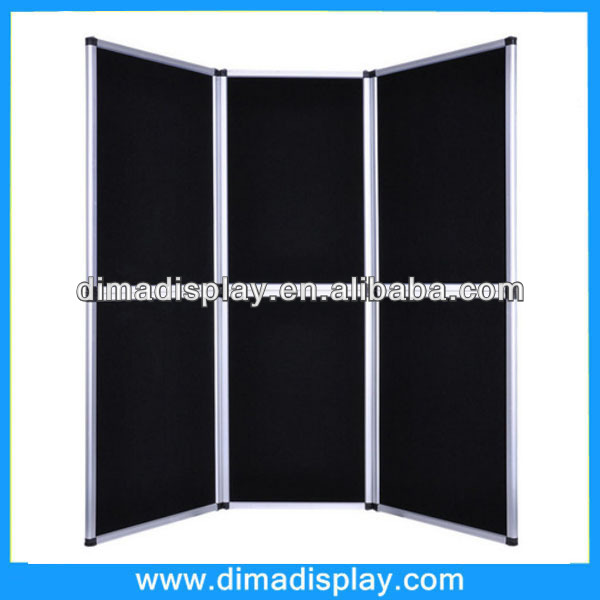 Collapsible Folding Panel Trade Show Presentation Exhibit Display Backdrop Booth black and blue pop up room screen divider
