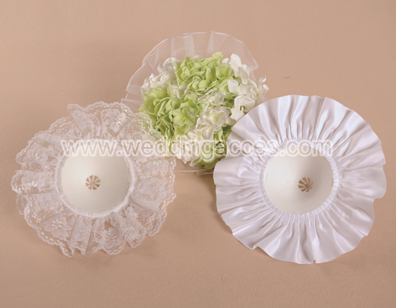 F9007/M9927-1/F9009 White Lace Bouquet Holder Collar bouquet holder