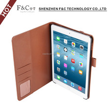"With auto wake sleep function leather case for ipad pro 9.7"" flip stand cover"