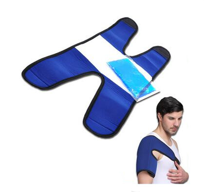 Pain Relief Shoulder Ice Pack with Strap for Hot & Cold Therapy Reusable Gel Pack for Injuries | Best as Heat Wrap or Cold Pack