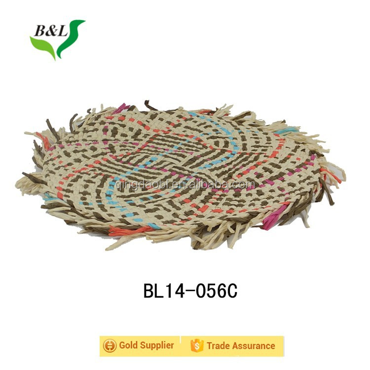 Colorful Paper Rope Woven Placemats Handmade