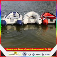 Customized aluminum floor inflatable boat Can be assemble the motor