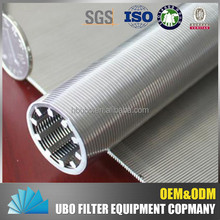 Stainless steel filter water well screen tube for liquid filtration