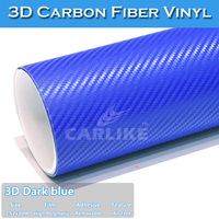 1.52x30M 5x98FT Air Free Removable PVC Material 3D Carbon Fiber Car Cover Vinyl