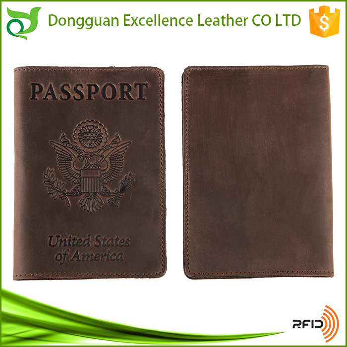 Vintage Leather RFID Blocking Travel Holder Passport Cover