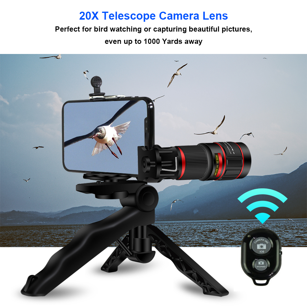 Amazon top seller 2018 accessories 20x zoom telephoto lens for mobile camera lens