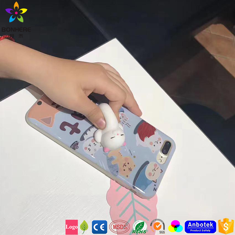 Hot Sell Squishy Phone <strong>Cover</strong>, 3D Cute Soft Silicone Tolls,Squeeze Soft Silicone Phone Case