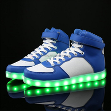 Cotton fabric lining material Leisure Couple LED Shoes Light Up Valentine's Day