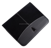 New Design Zippered A4 Letter Size Executive PU leather Padfolio with Cellphone Pocket and Card Slots