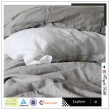luxury solid color bed sheet sets queen size pure linen flat sheet