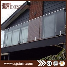 316 duplex 2205 stainless steel luxurious balcony frameless glass fence spigot