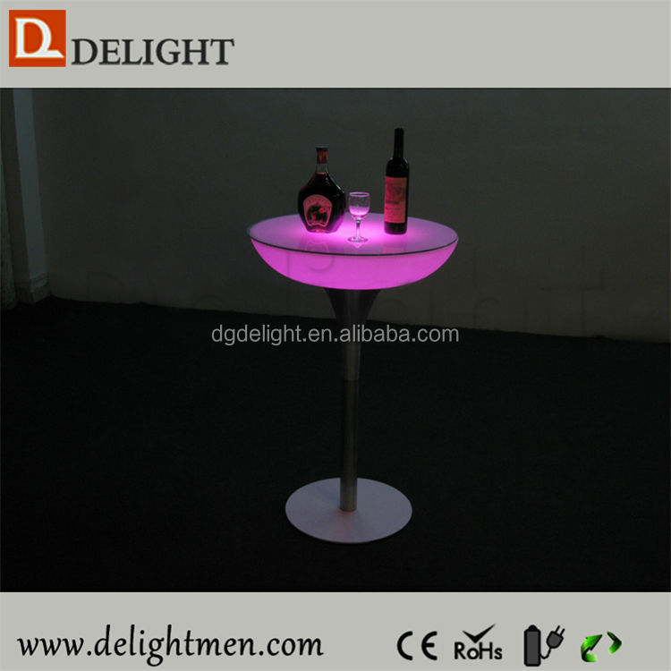 Commercial multicolored outdoor illuminated plastic rechargeable portable table top salad bar