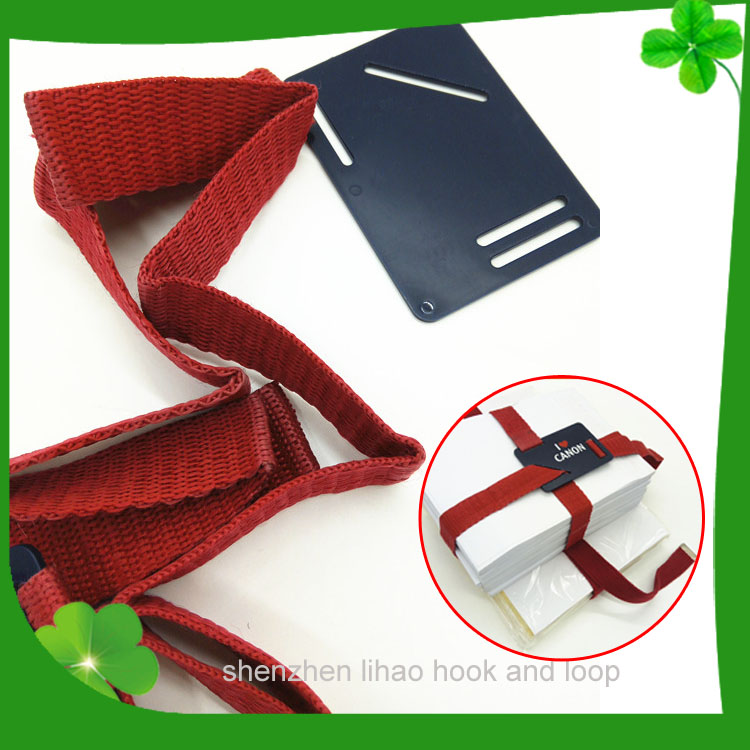 colorful and soft reusable hook and loop book strap