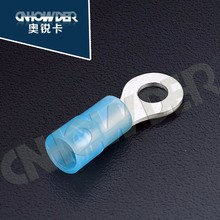 factory price nylon insulated crimp terminal ring copper lug terminals with SGS