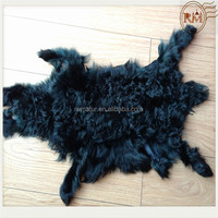 Factory Sale Dyed Various Colors Curly Sheep Lamb Skin Pelt