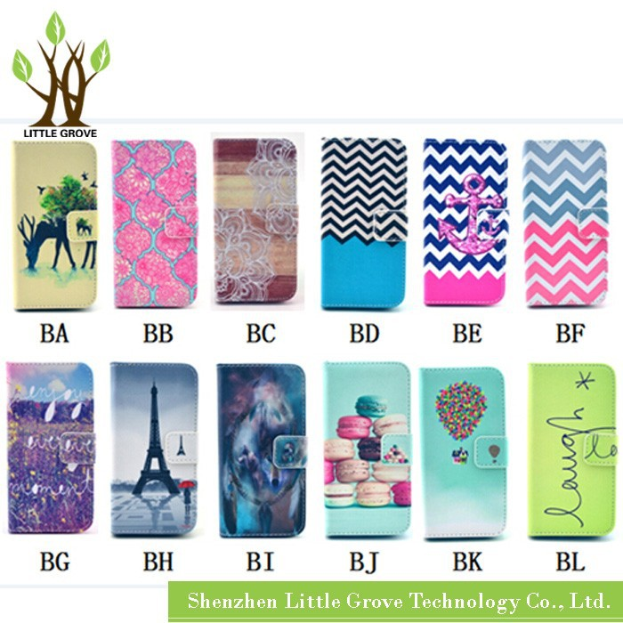 High quality For Samsung Galaxy S5 i9600 Painted Series Wallet Leather Case with Card Slots cover Free Shipping