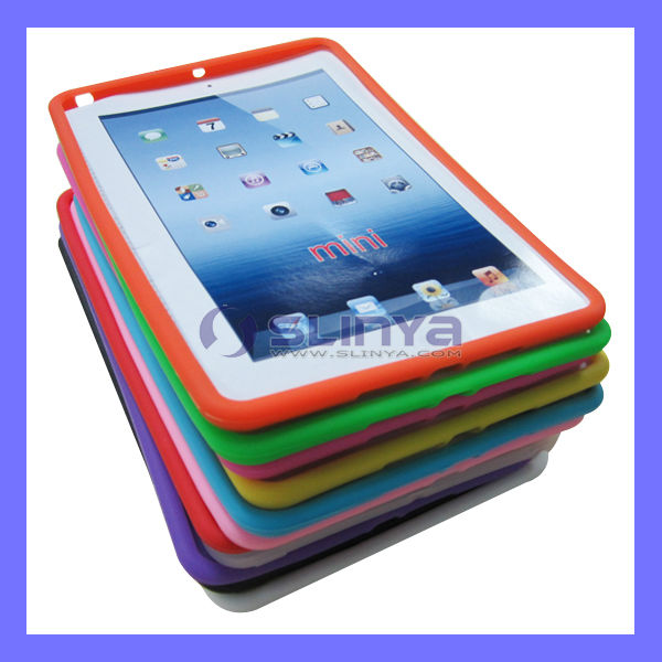 Pure Color Crystal Rubber Silicone for iPad mini Soft Case