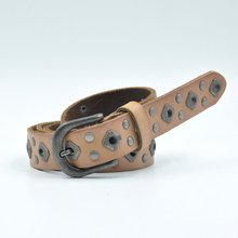 branded genuine leather belt female lady with rivet decoration