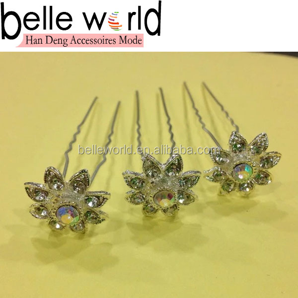 Wedding Decorative Hair Pin Stick Hair Bun Hair Fork with Rhinestone Wholesale
