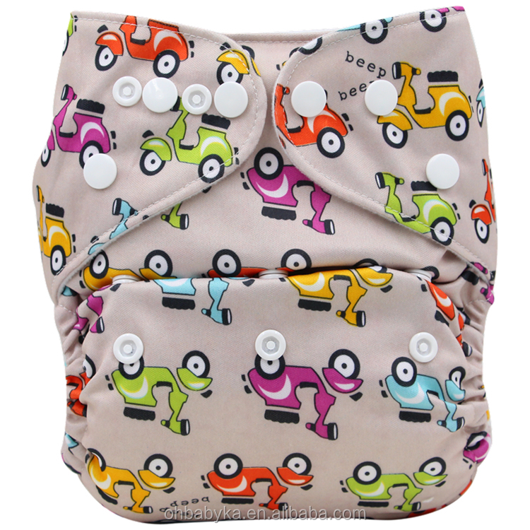 Ohbabyka Pattern PUL golden star imports Super Soft baby diapers manufacture in china