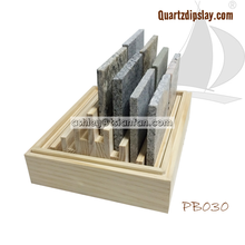 quartz marble granite stone samples display box/ countertop wooden display box PB030