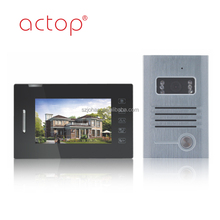 ACTOP 7 inch wired plcbus Touch Key Pad Fashion home automation Video Doorphone