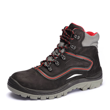 SOMO Wholesale En 20345 High Quality Steel Toe Cap Middle Ankle Safety Shoes