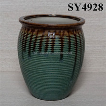 Glazed double color gardening ceramic flower pots