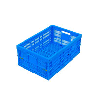 Inter Lock Container Foldable Plastic Box Vegetables Folding Plastic Crates