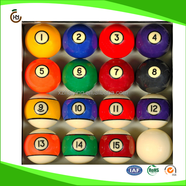 Pool Table Billiard Ball Set Art Number Style with colors