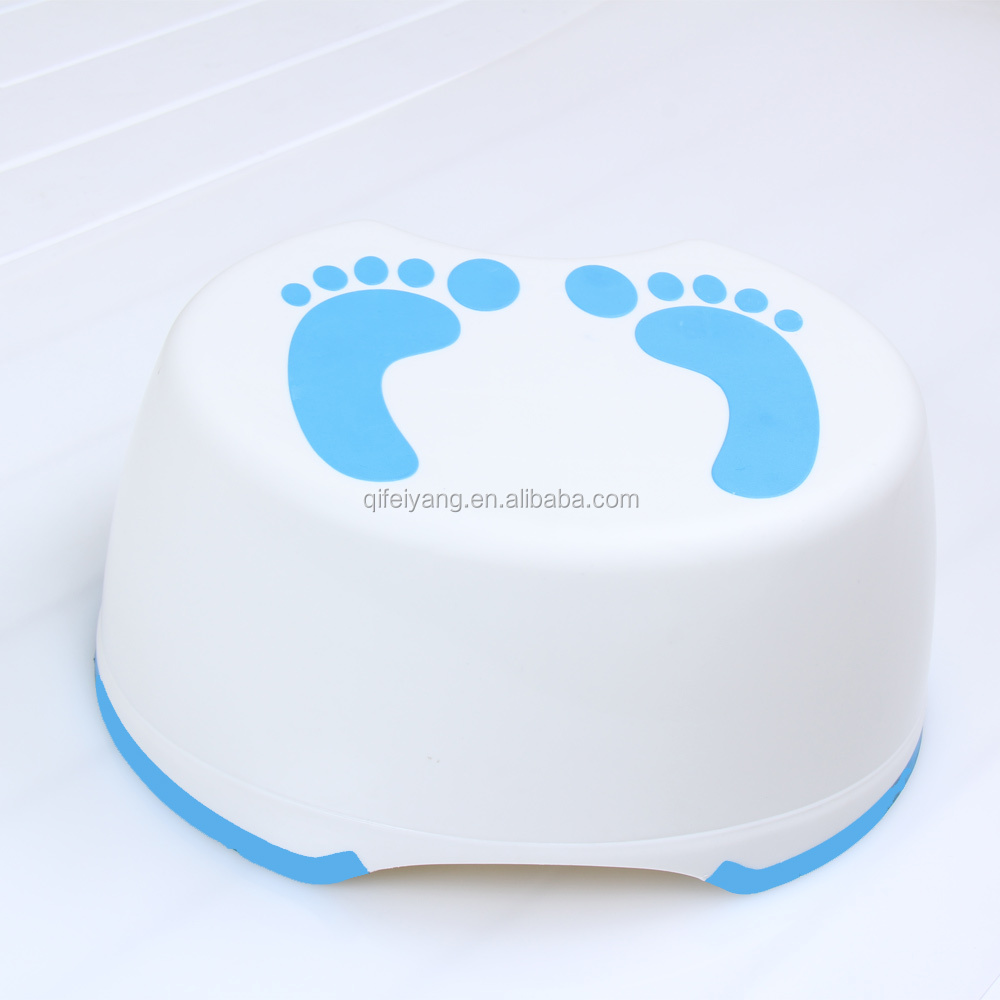 Wholesales popular safety and anti-slip plastic portable bathroom step stool nonslip toilet stool