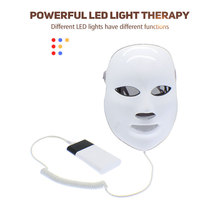 Red & blue led light therapy mask for wrinkles removal