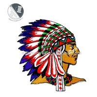 "Indian Native American Tribe Chief 4"" Iron On Patch Embroidered Appliques/Flat embroidery Applique"