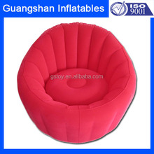 Elegant plastic sectional sofa inflatable red sofa