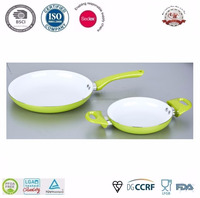 Pressed Aluminum White Ceramic Coating Cookware Set