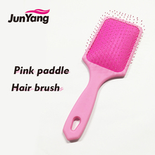 2018 new wholesale pink paddle plastic wet hair brush