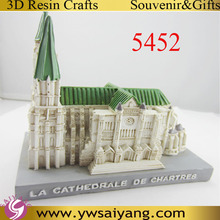 54522 La Cathedrale Decor Polyresin 3D Resin Building Interior decoration On Table 3D Resin Souvenir