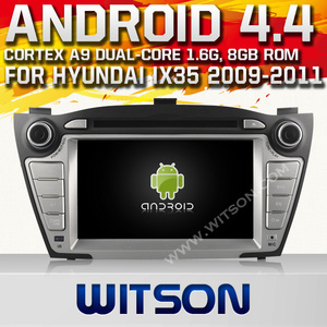 WITSON ANDROID 4.4 CAR AUDIO FOR HYUNDAI IX35 2009-2011 WITH 1.6GHZ FREQUENCY A8 DUAL CORE CHIPSET BLUETOOTH GPS WIFI 3G