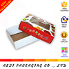customized 3 layer corrugated paper food transport box