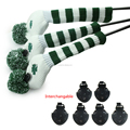 green 3x Golf Headcovers For Titleis Talormade Callawa Driver Fairway Wood 1 3 5