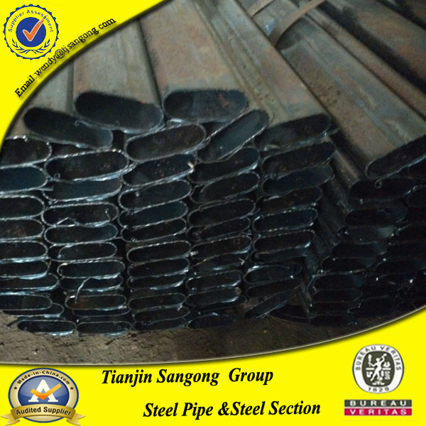 Cold Rolled Flat Oval Special Inner Shaped Carbon Steel Tubes& Pipes