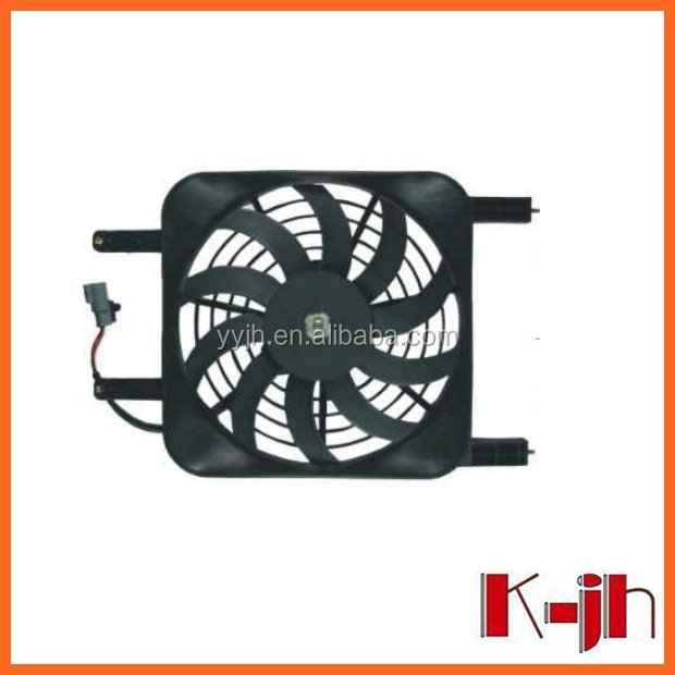 China cheapest top quality bus a c condenser ,universal auto a/c condenser fan for BYD, car parts condenser fan motor assy
