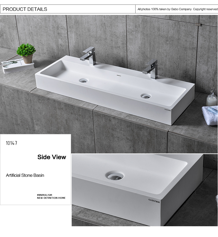 Modern design large wash basin for hotel/home bathroom