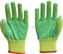 pvc dotted cotton glove/ansell gloves