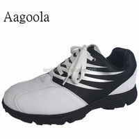 2016 High quality new designs genuine leather golf shoes factory wholesale