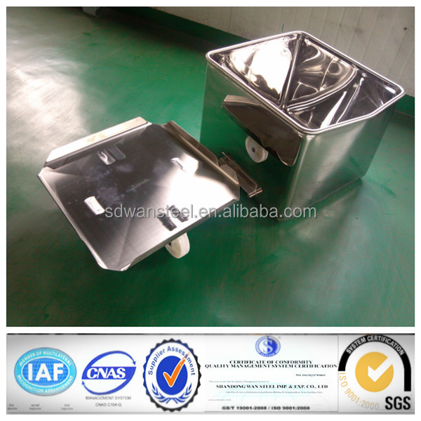 Stainless steel meat cart/bin compatible with elevator