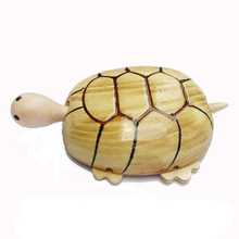 Handmade model craft wood carved turtle