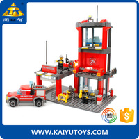 KAZI building blocks 774pcs firefighting boars block for children
